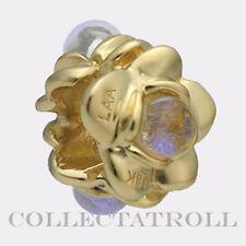 Authentic TrollBeads 18K Gold Three Flowers TrollBead 81710 *LAST ONE*