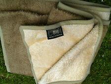 Decke beige + braun flauschig, ca. 200x163 cm neu