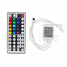 BZONE® Dual Output RGB LED Strip 44 Key IR Remote Controller 2 Connector