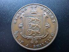 1858 Channel Islands Jersey 1/26th(1/20th) of a Shilling Higher Grade Coin