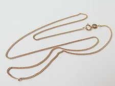 J.Lee 16.5inch Pure 18K Rose Gold Necklace - Classic 1.2mm Curb Link Chain Au750