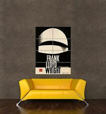 GIANT PRINT POSTER VINTAGE ADVERT FRANK LLOYD WRIGHT ARCHITECTURE POLAND PDC147