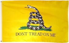 Yellow DONT TREAD ON ME Gadsden Culpeper TEA PARTY FLAG 3X5 Don't Tread on Me