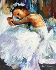 "BALLERINA 2  — Oil Painting On Canvas By Leonid Afremov.  Size: 16""x20"""