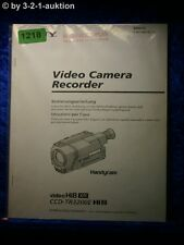 Sony Bedienungsanleitung CCD TR3200E Video 8 Camera Recorder (#1218)