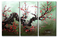 Hand-painted Wall Decor Asian Art Cherry Blossom Flower Oil Painting On Canvas#9