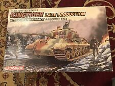Dragon DML 1:35 King Tiger Late w/New Pattern Track Ardennes Kit #6232 US Seller