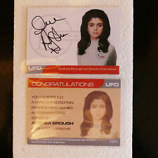 Gerry Anderson UFO AYSHEA BROUGH AS SHADO OPERATIVE AUTOGRAPH CARD 1:150