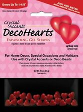 Crystal Accents Water Absorbing Hearts Expanding Gel Shapes Vase Filler Decor