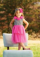 MUD PIE Wild Child Colorful LEOPARD animal print PARTY DRESS 4T Toddler NWT