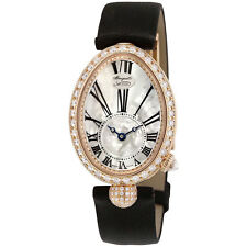 Breguet Reine de Naples Mother of Pearl Dial 18kt Rose Gold Black Satin Ladies