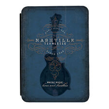 Nashville Guitar Blue Music Rock iPad Mini 1 2 3 PU Leather Flip Case Cover