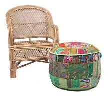22'' Khambariya PAtchwork Cotton Round Ottoman Pouffe Asian Art Pouffe Cover