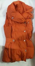 KAREN MILLEN WP001 PADDED DOWN Orange PUFFER Signature Vest Jacket UK 6 US 2