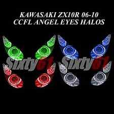 Kawasaki ZX10R 2006-2010 CCFL Demon Angel Eyes Halo lights rings kit