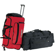 "large 30"" inch carry on travel rolling wheels duffel weekend overnight bag 9530"