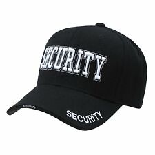 BLACK SECURITY GUARD OFFICER BASEBALL CAP CAPS HAT HATS