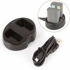 USB Dual Channel Battery Charger for Canon LP-E6 5DII III IV 70D 60D 7D 6D 80D