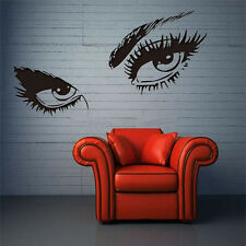 New Sexy Beautiful Female Eye Big Eye Lashes Decor Wall Mural Vinyl Art Stickers