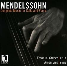 Mendelssohn: Complete Music for Cello &, New Music