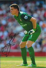 Wojciech SZCZESNY Signed Autograph 12x8 Photo AFTAL COA Arsenal Goalkeeper RARE