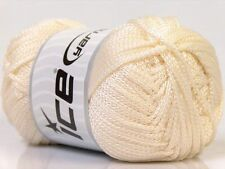 TWO SKEINS Cream color  NOVELTY MACRAME yarn by ICE 1641 Free Shipping