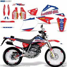 Graphic Kit Honda XR 250 Decal Wrap w/Backgrounds/Rim Stickers XR250 SM 03-05 LO