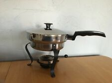 Vintage Stainless Steel Double Boiler ~ Food Warmer ~ Chafing Dish ~ Fondue Pan