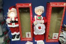 The Original Motion-ettes of Christmas Telco Santa and Mrs. Claus Lot#45-2000