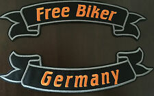 Germany Free Biker Set Patch Banner XL je 32x7,0 cm Biker Kutte MC Chopper