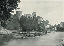 Barnard Castle County Durham 1900 Single Sided Antique Print Picture #161