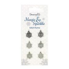 Dovecraft Premium Magic Sparkle in metallo fiocco di neve Ciondoli per schede & Crafts