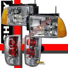 95 96 97 Chevy Blazer S10 LT LS Headlights & Tail Lights Chrome