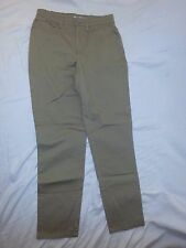 FADED GLORY Stretch WOMEN'S Tan Denim JEANS Size 8 P Cotton Spandex EUC
