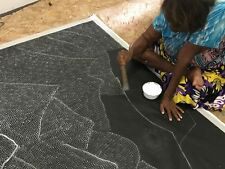 ABORIGINAL ART PAINTING by LILY KELLY NAPANGARDI SAND HILLS, Video WIP Authentic