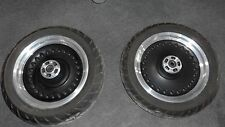Harley Davidson Fat Boy Lo Bullet Black New Take Offs Front and Rear Wheels