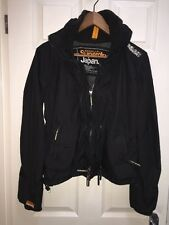 Superdry Black Windcheater Jacket - Womens Size Small Multi Zip EXC 10