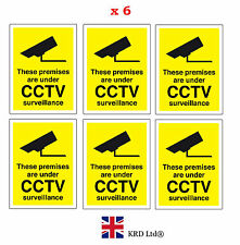 6x CCTV In Operation Warning Stickers Safety Security Camera Adhesive Signs PACK