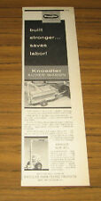 1957 Vintage Ad Knoedler Auger Wagon for Farm Use Pulled by Tractors
