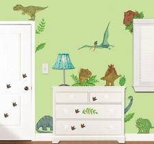 37 New Giant IN DINOSAUR LAND WALL DECALS Dinosaurs Stickers Boys Room Decor