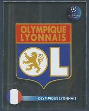 PANINI UEFA CHAMPIONS LEAGUE 2008-09- #349-LYON TEAM BADGE-SILVER FOIL