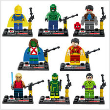 Hot 8 Sets of Minifigures Super Heroes Building Toys The Avengers Blocks Toy