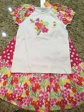 Gymboree NWT Fall Flowered Long Layered Skirt T Shirt Outfit SET Easter 8 9 10