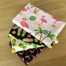 LADY PINK Fat Quarter Bundle Blank Quilting fabrics FLAMINGO PINEAPPLE FLIP FLOP