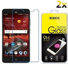 [2-Pack] KHAOS For ZTE Grand X4 Z956 (Cricket) Tempered Glass Screen Protector