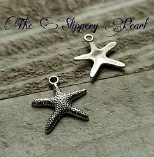 Starfish Charms Pendants  Antiqued Silver Nautical Ocean Charms Sea Charms 10pcs