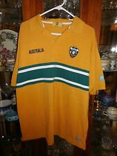 "Australian Rugby Polo Shirt Australia US L M Aust. XXL 50"" ch Green Bay colors"