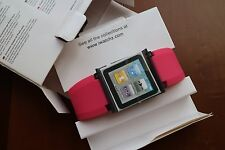 IWATCHZ nano clip system PINK RED for ipod nano 6th gen 8GB & 16GB