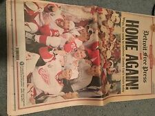 Detroit RedWings Victory Edition of Detroit Free Press Newspaper-June 6, 2008