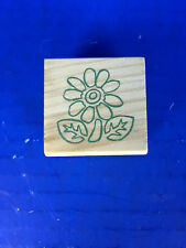 "New! Miniature Wooden Rubber Stamp (849609) Flower 1.5"" x 1.5"""